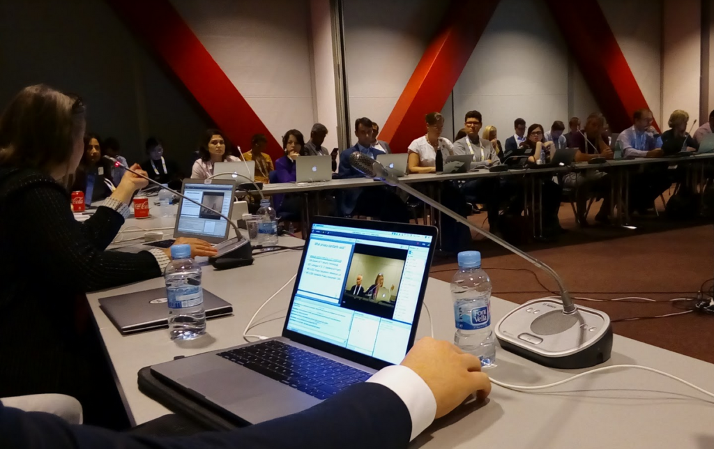 Roundtable discussion at a ICANN workshop in Barcelona